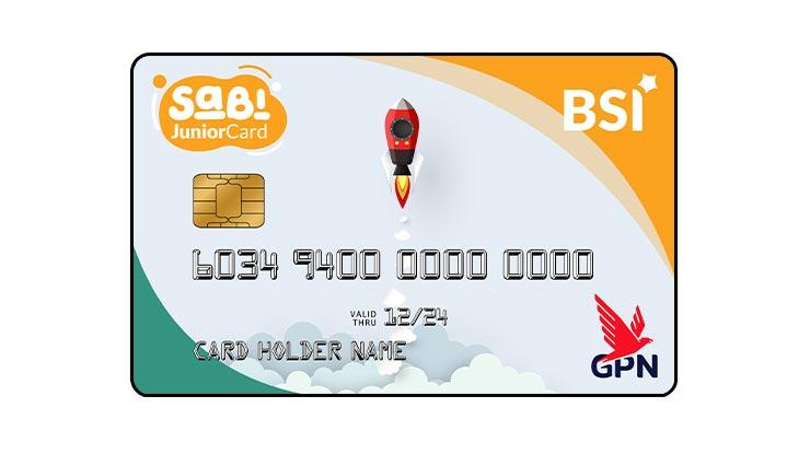 ATM Sabi Junior Card Bank Syariah Indonesia