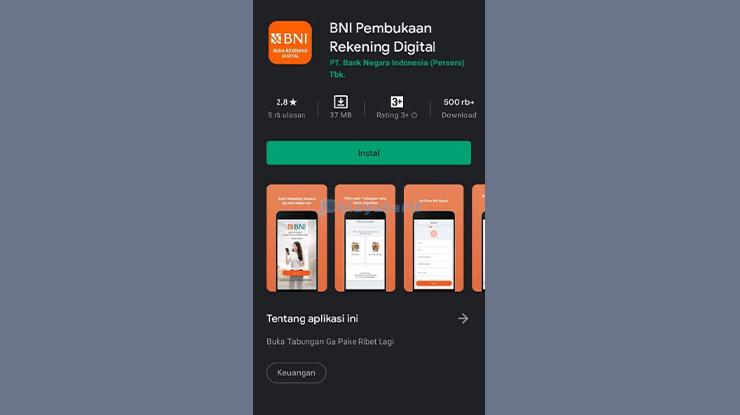 Download Aplikasi BNI Pembukaan Rekening Digital