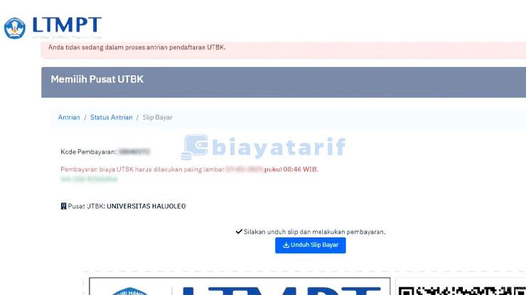 Konfirmasi Pendaftaran UTBK