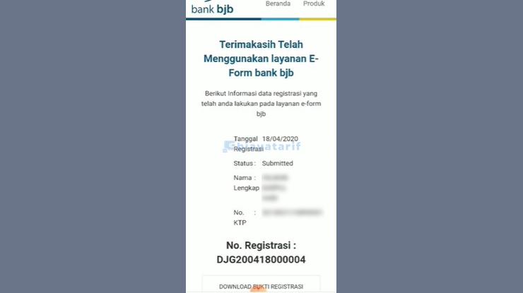 Nomor Registrasi
