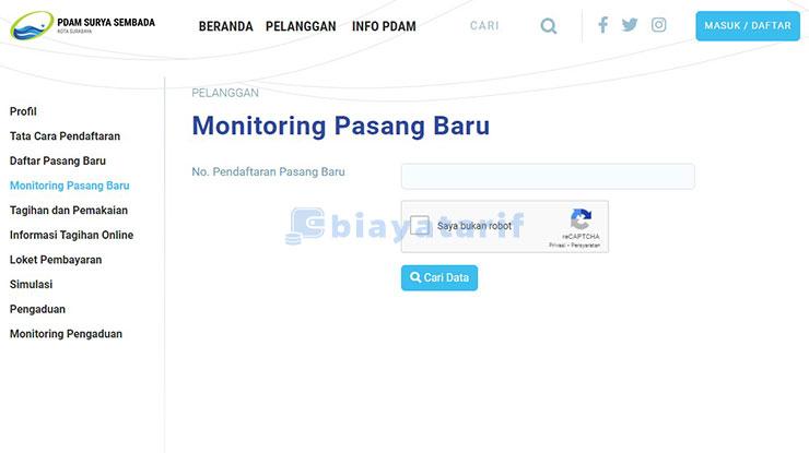 Cek Status Pasang Baru PDAM Surabaya