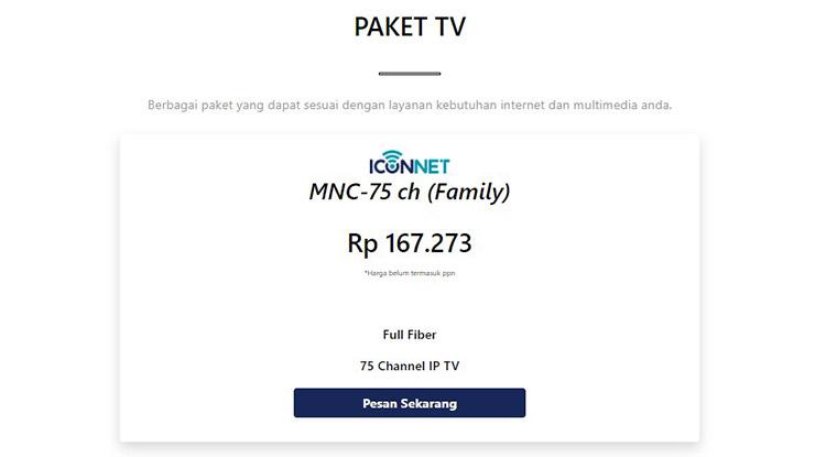 Paket Internet TV