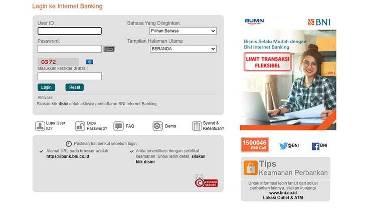 Biaya Transfer via Internet Banking