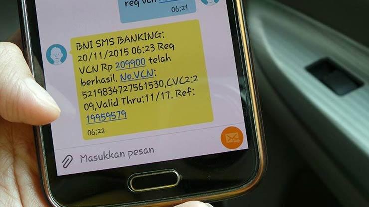 Biaya Transfer via SMS Banking