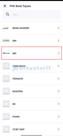 Pilih Bank BRI
